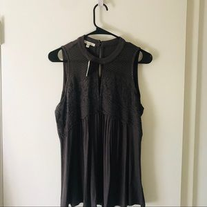 NWT Charcoal Gray Blouse